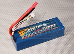 Zippy 5000mAh 3S 11.1V 30C 40C Lipo Battery Pack Hardcase 4mm Bullet Connector