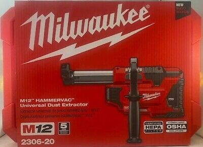 Milwaukee M12 Hammervac 2306-20 Universal Dust Extractor Toolcase Only New