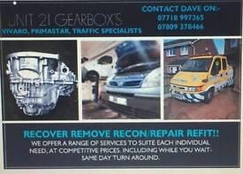 vauxhall vivaro Renault traffic gearbox repairs