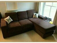 Stunning Nabru Corner Sofa Bed. Was £850 now only £280. *Free Delivery*