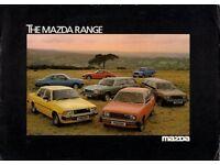 1989 MAZDA 121 CABRIO TOP BROCHURE PROSPEKT!
