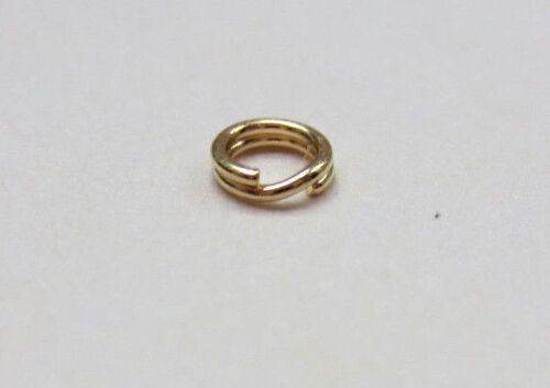 14k Yellow Gold Split Ring Jump Ring Clasp Charm Attacher 14K Solid Gold 3.6 mm