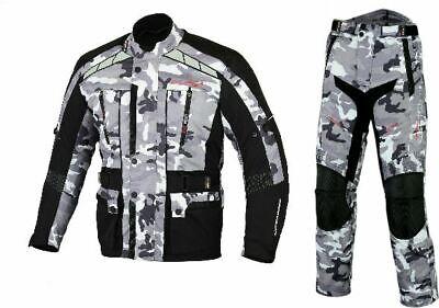 WATERPROOF WINDPROOF TOURING URBAN MOTORCYCLE BIKE CAMO ARMY JACKET SUIT -
