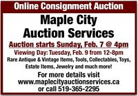 Exciting Online Auction Runs February 7th till 10th.