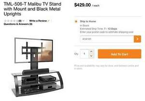Universal TV stand with mount