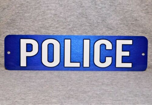 "Metal Sign POLICE department station officer law enforcement agency 3"" x 12"" cop"