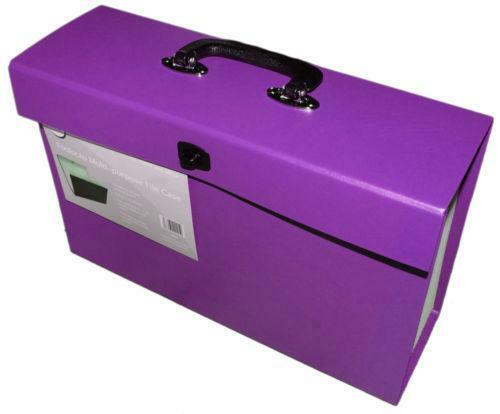 purple box file ebay. Black Bedroom Furniture Sets. Home Design Ideas