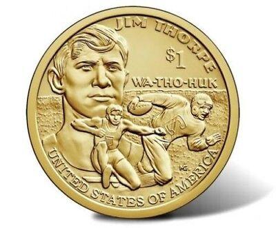 Used, 2018 D Sacagawea Native American Dollar US Mint Coin BU Jim Thorpe for sale  Brandon