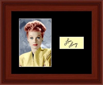 Lucille Ball Matted Photo Display 8X10 - Autograph I love Lucy Glamour Color