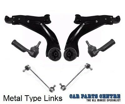 FOR FORD MONDEO MK3 FRONT SUSPENSION WISHBONE ARM TRACK TIE ROD ENDS METAL LINKS