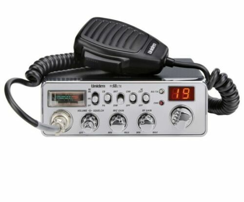 Uniden PC68LTX 40 Channel Mobile Fixed Mount CB Radio w PA