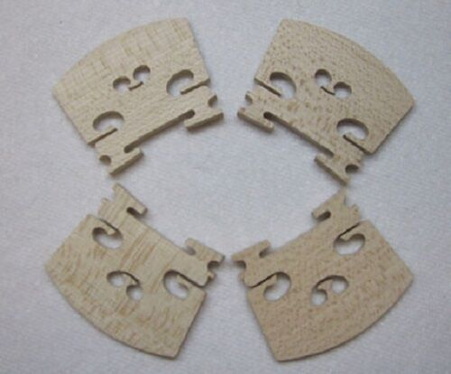 Four(4) 1/2 Size Violin Bridges *High Quality Low Cost*