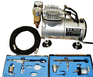 New Airbrush With Compressor Double Action Air Brush Spray Kit For Paint Stencil