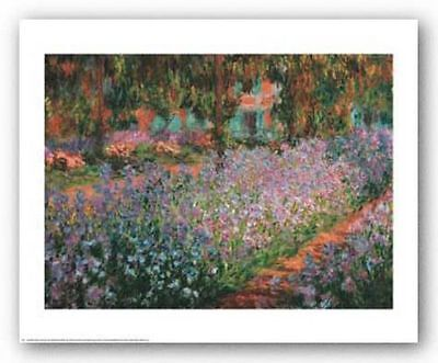 ART PRINT The Artists Garden at Giverny Claude Monet Claude Monet Artists Garden