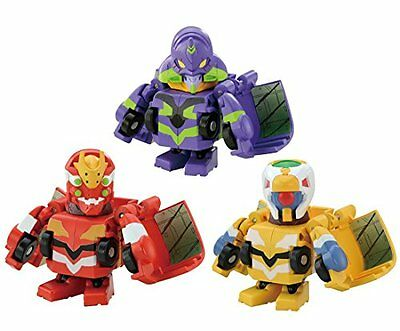 Takara Tomy Q Transformers QTC02 Evangelion 3 pieces set Figures from Japan