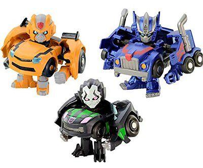 Takara Tomy Q Transformers QTFS01 Animation Main Character 3 Set Figure