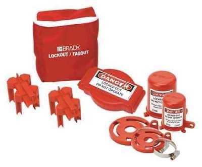 Portable Lockout Kit6filledvalve Brady 99679 Brand New In Brady Shipping Box