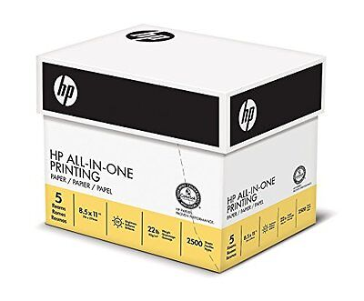 Printing Paper 8.5 X 11 Ch 22lbs 96 Bright 2500 Sheets 5 Ream Case 207000c
