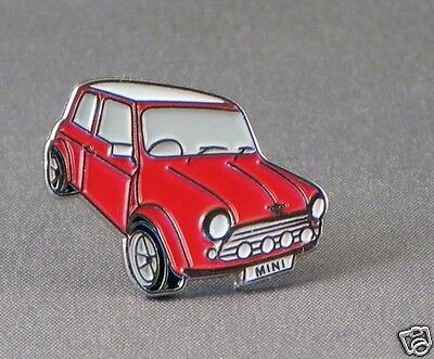 Red Classic Mini enamel pin / lapel badge