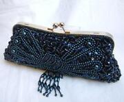 Blue Beaded Bag