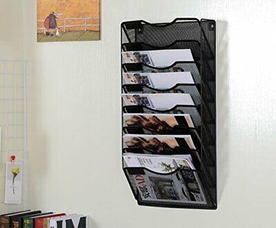 8 Pocket Metal Wall File Holder Hanging Folder Organizer Magazine Rack Saloon