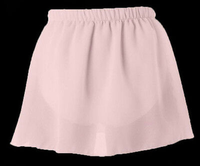 Danskin 3318 Girls Theatrical Pink Georgette Pull-On Skirt for Dance ()