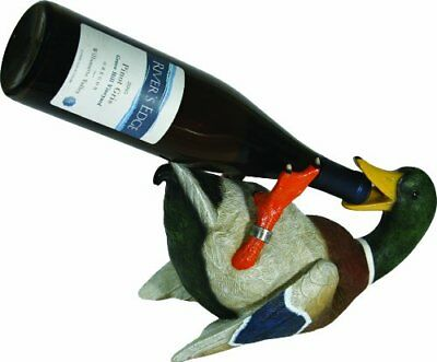 NEW Rivers Edge Hand Painted Duck Wine Bottle Holder FREE2DAYSHIP TAXFREE 2 Bottle Wine Holder