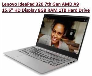 Lenovo IdeaPad 320 7th Gen AMD A9 15.6 HD Display 8GB RAM 1TB Doveton Casey Area Preview