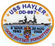 US Navy SHIP Patches