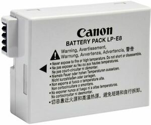 Wanted - Canon LP E8 (T2i, T3i, T4i) Battery - Original Only