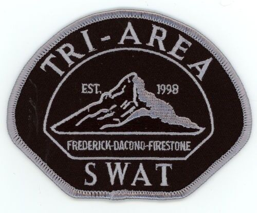 TRI AREA SWAT COLORADO CO POLICE SUBDUED 3 CITIES PATCH SHERIFF