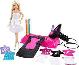 Barbie Airbrush Designer Studio and Doll Set. New in box. Dress for painting - washes off.