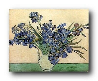 Vincent Van Gogh Iris Flower in vase Floral Wall Decor Art Print Poster -