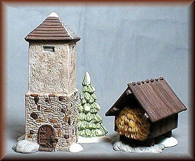 Dept 56 Dickens Village ~ Silo & Hay Shed ~ Mint In Box 59501