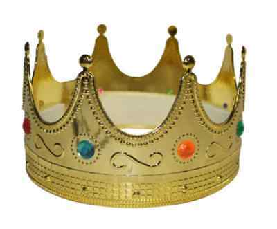 stüm König gold Märchen Königskrone Karneval Fasching NEU (Gold Krone Kostüm)