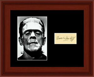 Boris Karloff Matted Photo Display 8X10 - Autograph Frankenstein 1931