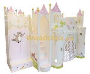 FAIRYTALE CASTLE Bunk Bed or Loft Bed & Play House . ♥‿♥