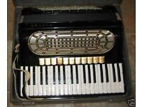 Hohner Organola 1, 120 Bass Piano Accordion, including Microvox pickup system.