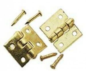 Dollhouse-1-034-Scale-Brass-Door-Hinge-6pc-Set-Hardware