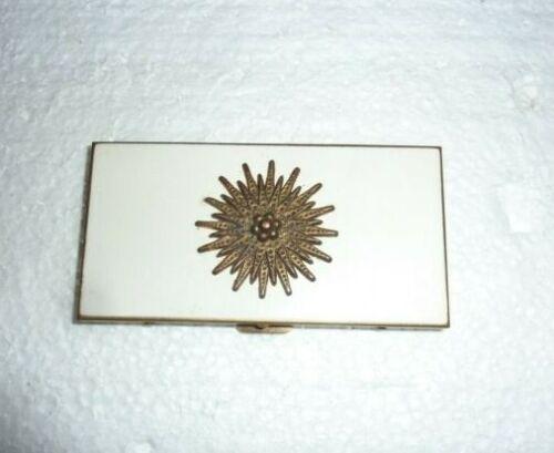 Vintage Gold Tone Mid Century MCM Pocket Business Card Case  S-48