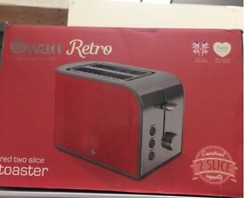 Retro red swan toaster