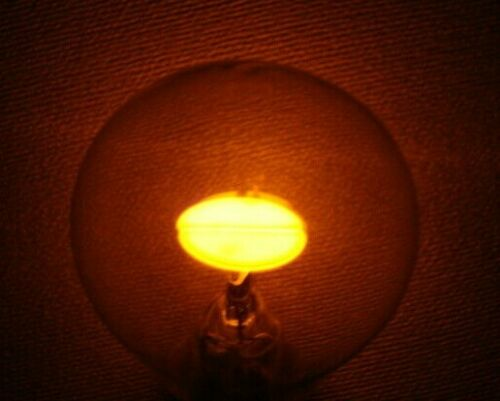 Neon light bulb USSR 110-220V with built-in resistor, nixie, brass socket