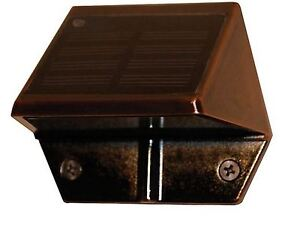 Solar Copper Plated Deck & Wall Light