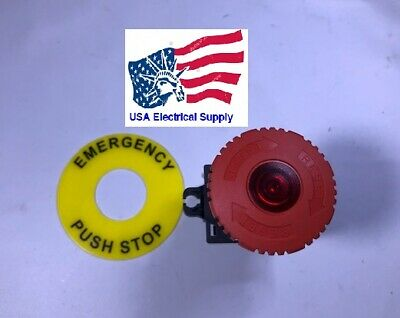 S2er-e4rbl Led Mushroom Emergency Stop Push Button Switch With Light 110220 V