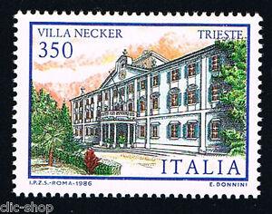 ITALIA 1 FRANCOBOLLO VILLE D'ITALIA NECKER TRIESTE 350 LIRE 1986 nuovo** - Italia - L'acquirente ha il diritto di restituire l'oggetto entro 14 giorni dopo la ricezione. - Italia
