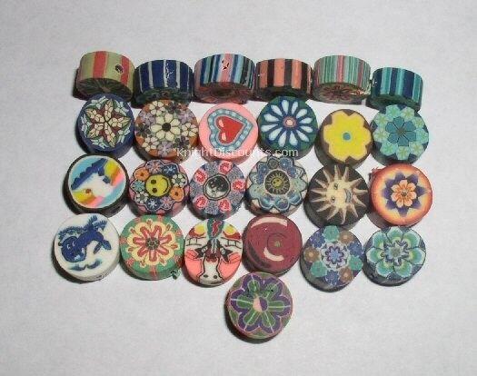 50 FIMO BEADS - Small Assorted Creative Design Craft Bulk Wholesale Lot NEW