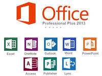 MICROSOFT OFFICE PROFESSIONAL SUITE for PC (2013).