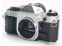 Canon AE-1 Program SLR 35mm Film Camera with Canon FD 35-105mm f3.5 Macro Zoom Lens + Hoya 72mm