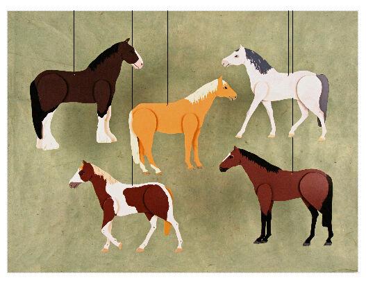 Skyflight Horses Horse Pony Hanging Baby Classroom Mobile Educational Decor Art