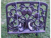 Unused heavy cast iron cookbook stand